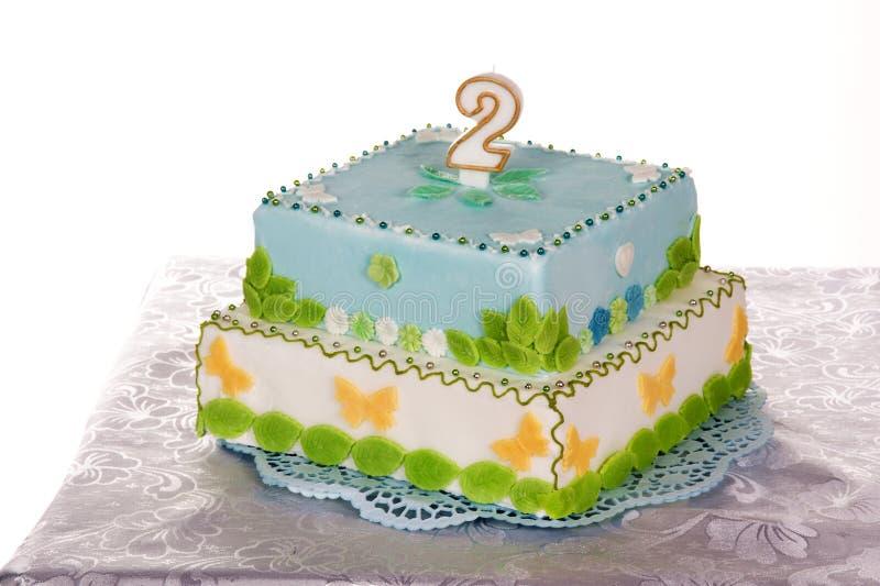 Birthday cake. For his birthday stock image