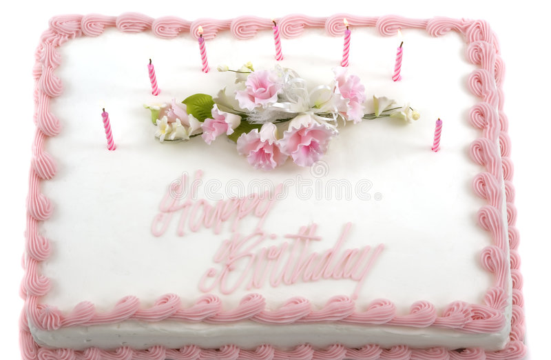Birthday Cake. Delicious beautifully decorated birthday cake stock image