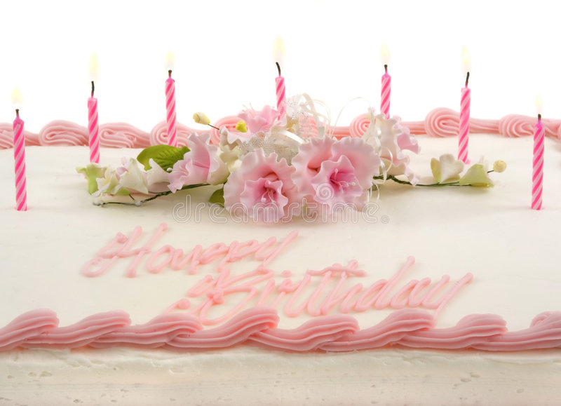 Birthday Cake. Delicious beautifully decorated birthday cake royalty free stock images