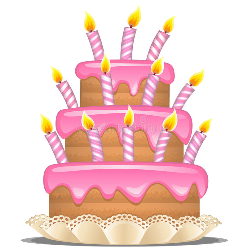 Birthday Cake Stock Vector Illustration Of Dessert 38073556
