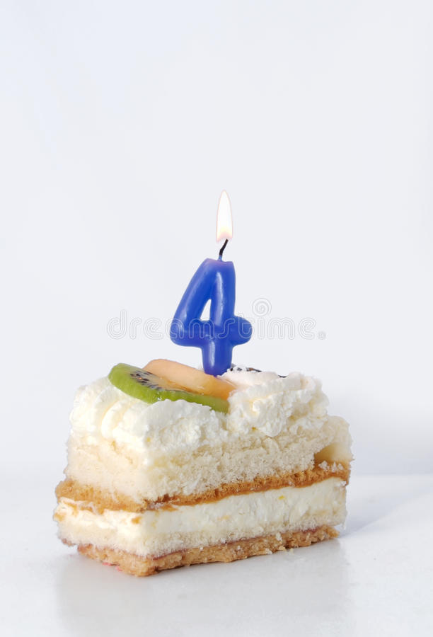 Download Birthday cake 4 year stock image. Image of food, year - 11927025