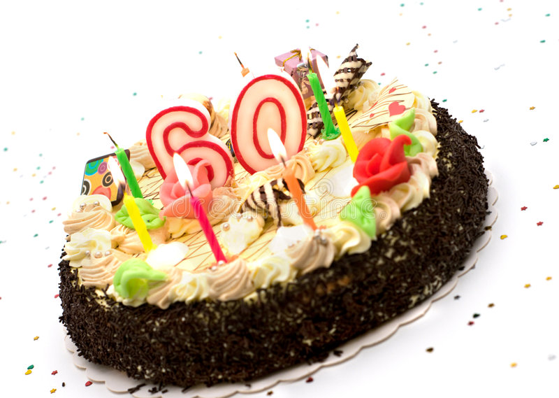 Download Birthday Cake For 60 Years Jubilee Stock Photo - Image: 6317808