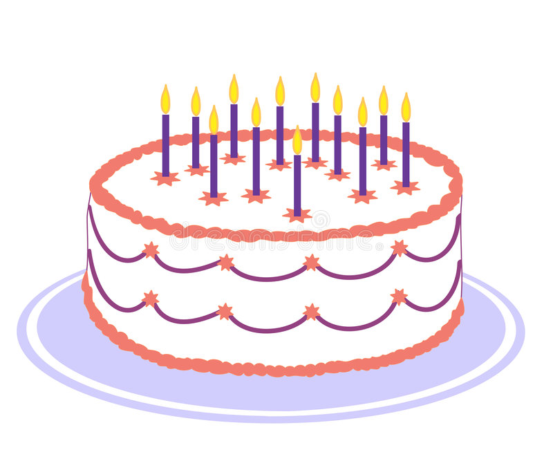 Download Birthday cake stock vector. Image of party, candle, icing - 6802712