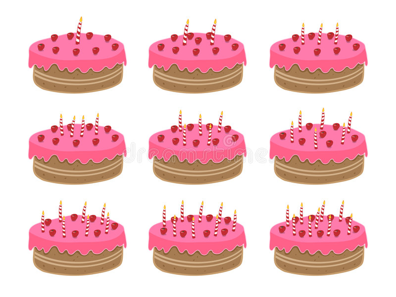 Download Birthday cake stock vector. Illustration of event, colorful - 7263385