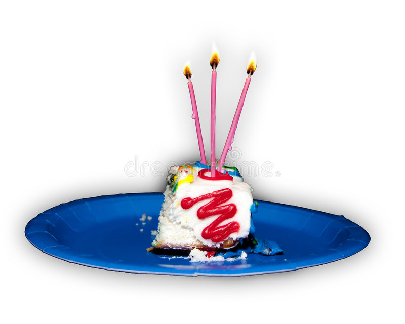 Birthday Cake. Cutout of a birthday cake with candles stock photography