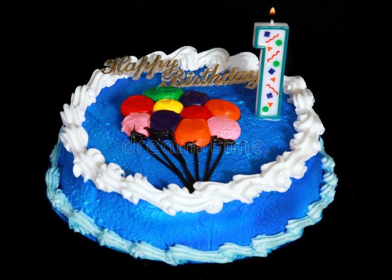 Birthday cake. On a black background royalty free stock image