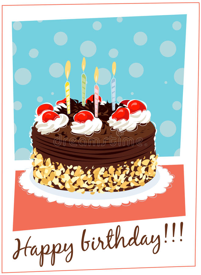 Download Birthday cake stock vector. Image of icing, dessert, birthday - 9807017