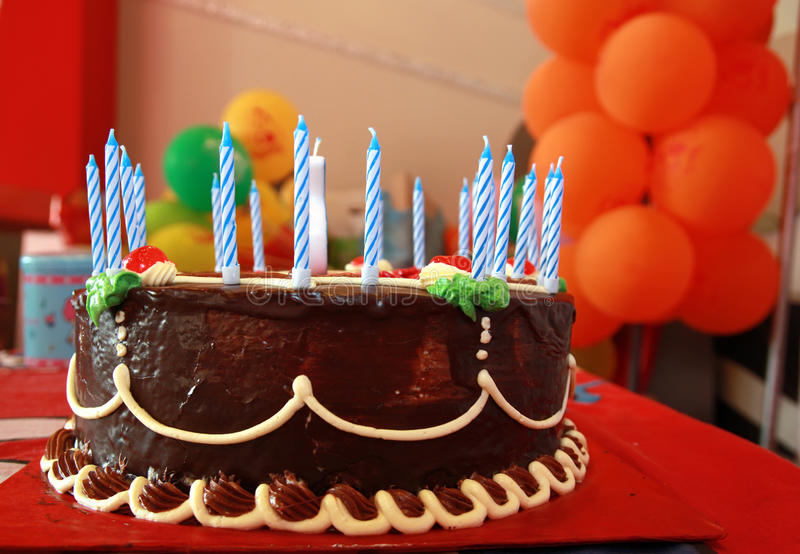 Birthday cake. Photograph ob birthday cake in party royalty free stock photo