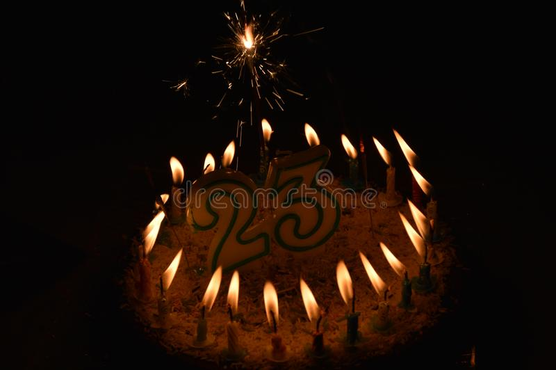 A birthday cake. Twenty three years royalty free stock images