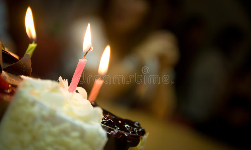 Birthday. Cake and candle for birthday royalty free stock image