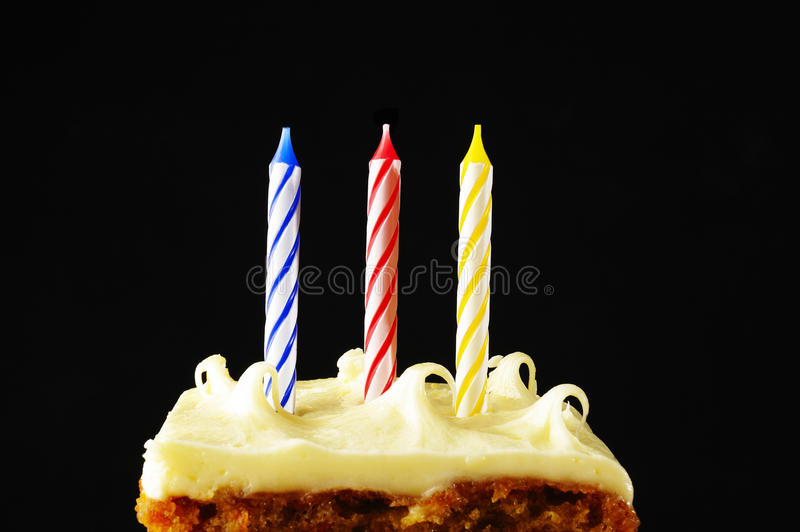 Birthday cake. Candles on a birthday cake stock photography
