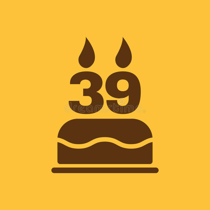 The Birthday Cake With Candles In The Form Of Number 39 Icon