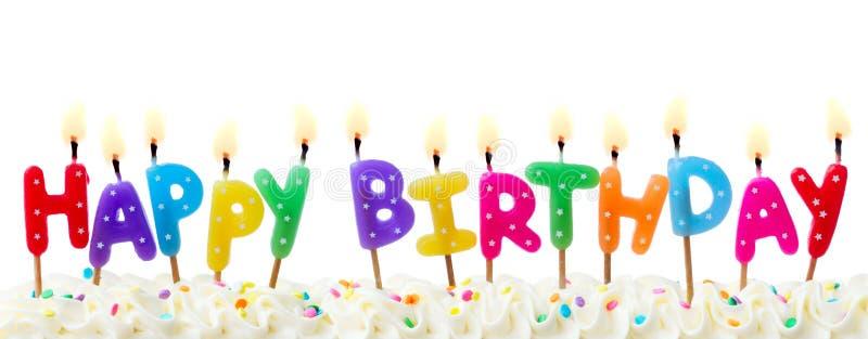 Birthday cake candles royalty free stock photo