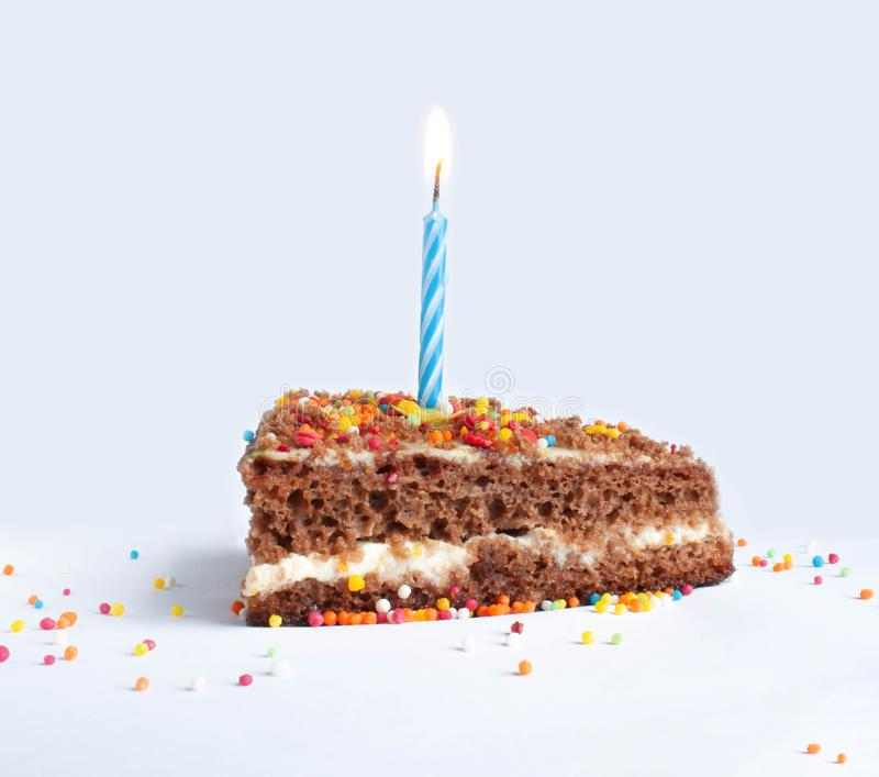 Happy birthday cake with candle. Birthday cake, celebrate day, candles, party  photo stock images