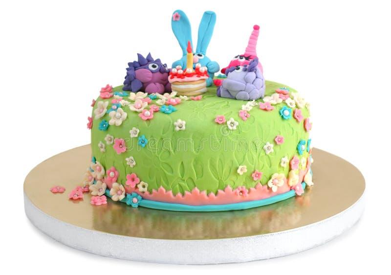 Birthday cake for child stock photo