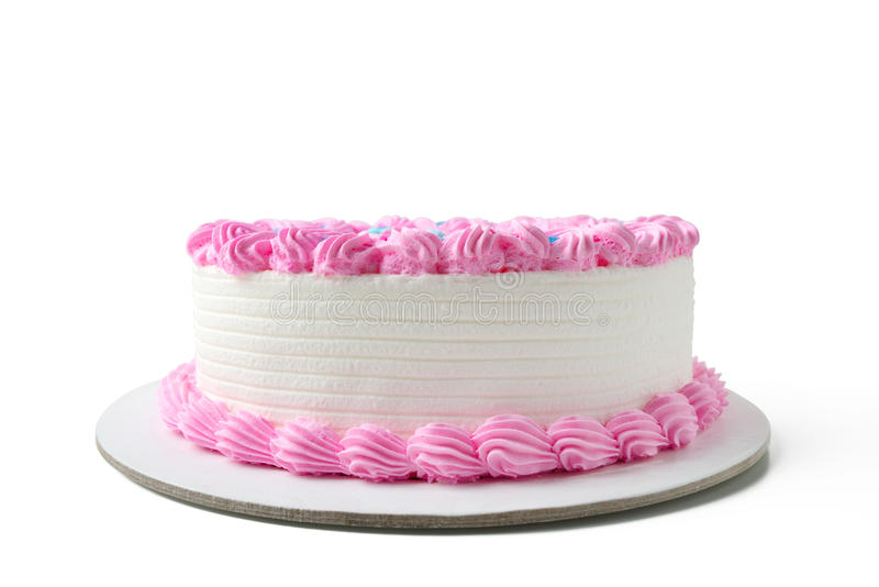 Birthday cake. With clipping path stock photography