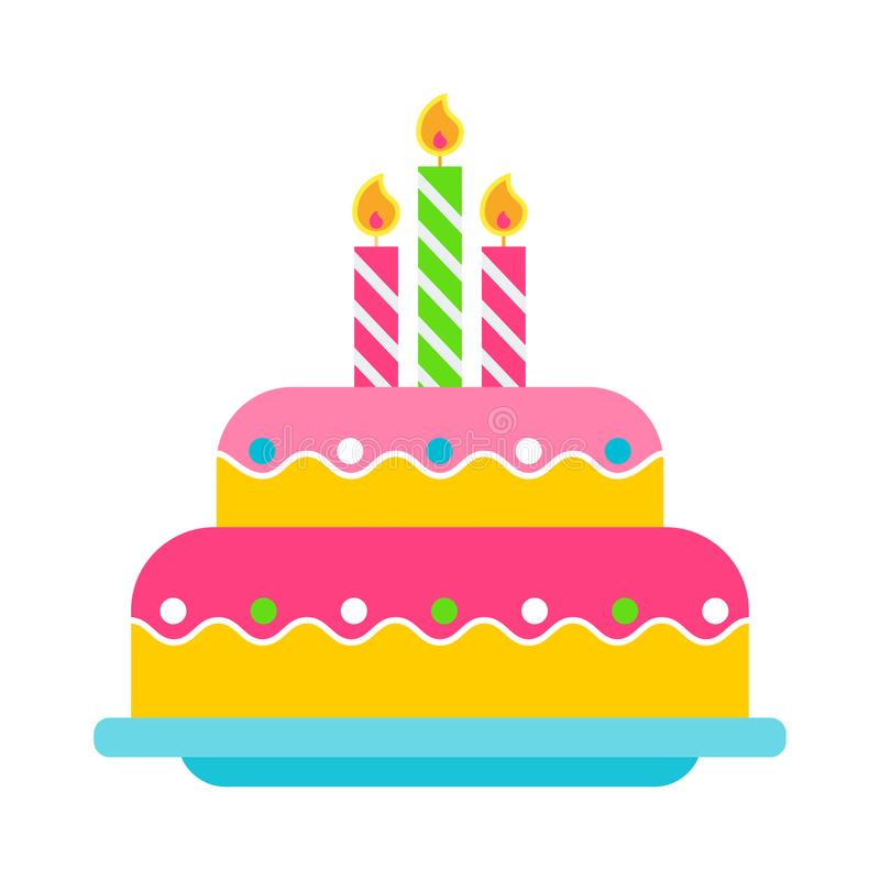 Birthday cake color icon stock vector Illustration of card 109526541