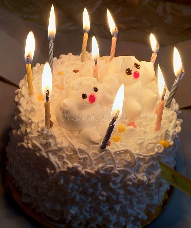 Birthday cake. Cute birthday cake royalty free stock image