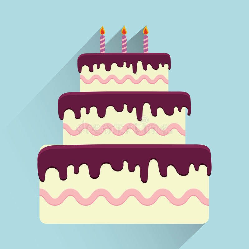 Birthday cake and desserts. Birthday cake and desserts icon design, vector illustration royalty free illustration