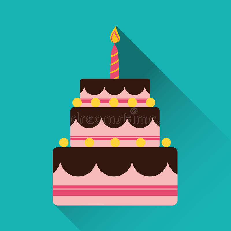 Birthday cake and desserts. Birthday cake and desserts icon design, vector illustration vector illustration