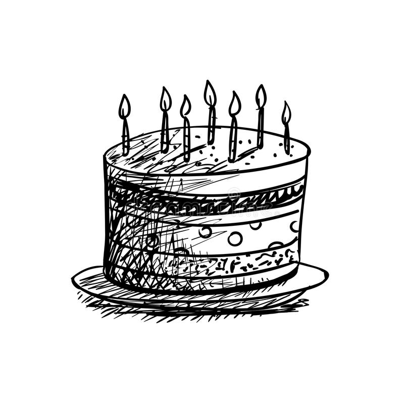 Marvelous Birthday Cake Drawing Stock Illustrations 17 863 Birthday Cake Funny Birthday Cards Online Elaedamsfinfo