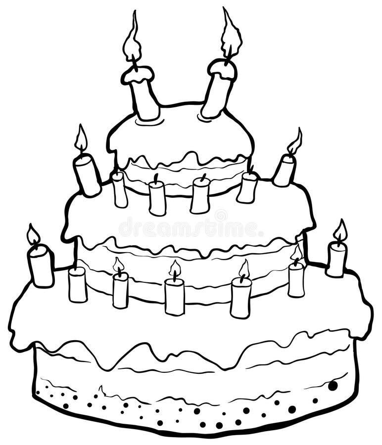 Astounding Birthday Cake Drawing Stock Illustrations 17 863 Birthday Cake Personalised Birthday Cards Vishlily Jamesorg