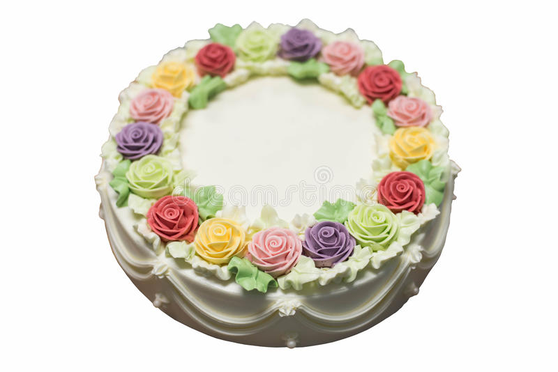 Birthday Cake Images And Flowers ~ Birthday cake with flowers stock photo image of dessert