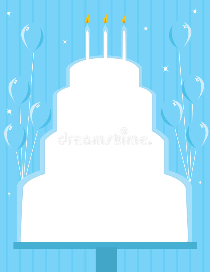 Birthday cake frame background vector illustration