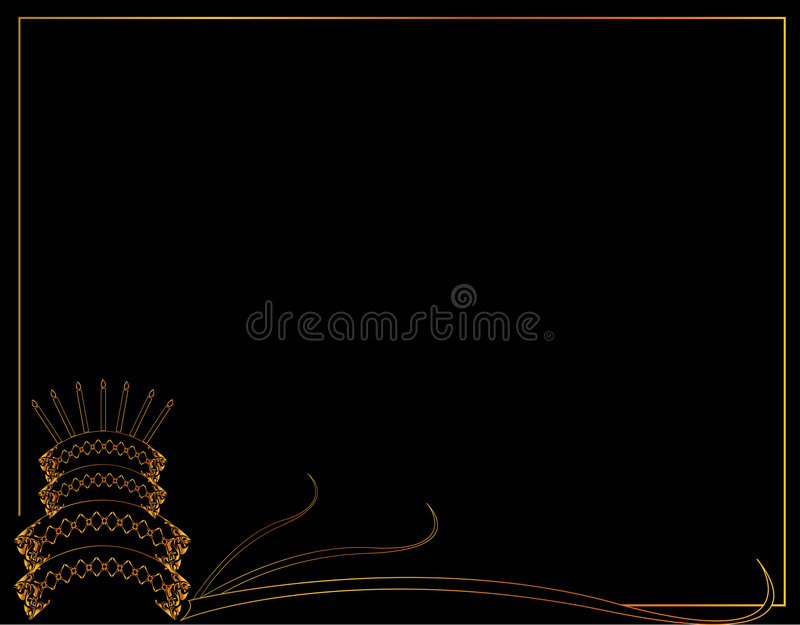 Download Birthday Cake Frame Background Stock Vector - Image: 7062629