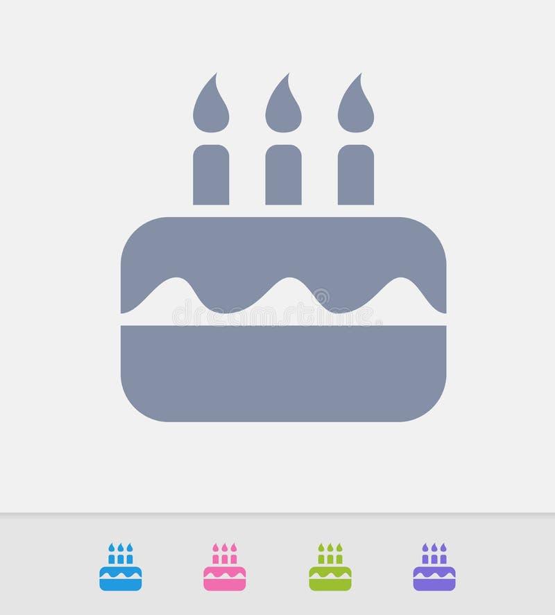Birthday Cake Granite Icons Stock Vector Illustration of sweet