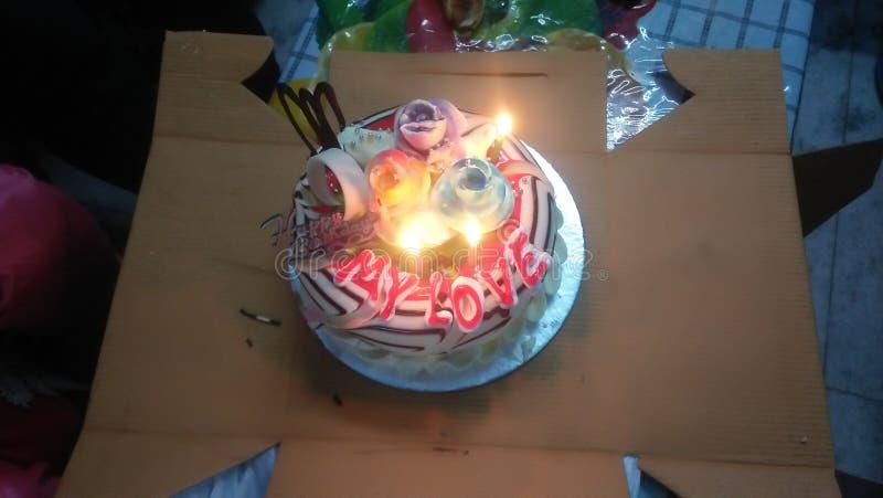 Birthday cake. Happy, colourful, beautiful royalty free stock photography