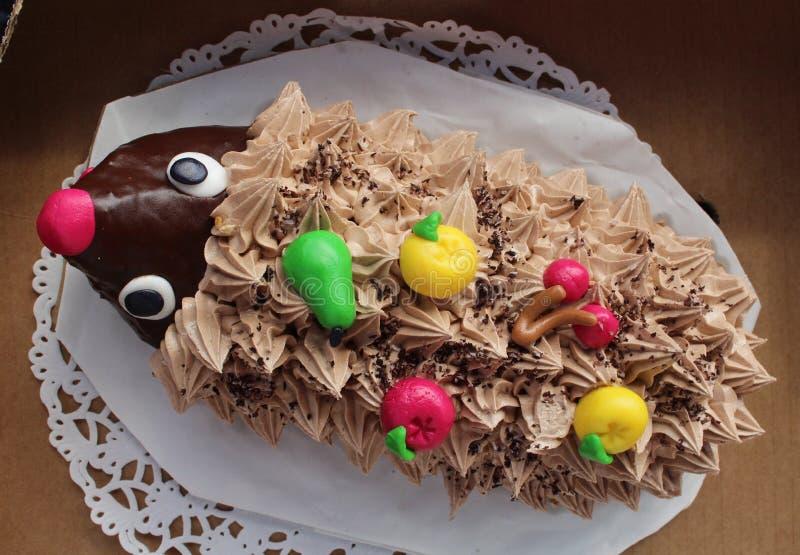 Fine Birthday Cake Hedgehog Stock Photo Image Of Cake Hedgehog Funny Birthday Cards Online Inifodamsfinfo