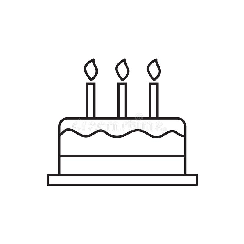 Birthday cake icon. Vector illustration royalty free illustration