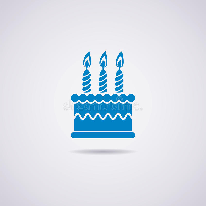 vector birthday cake icon vector illustration