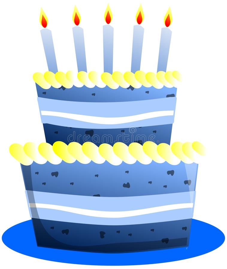 Stylized Birthday cake isolated royalty free stock photo