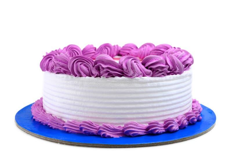 Birthday cake. Isolated on white royalty free stock image