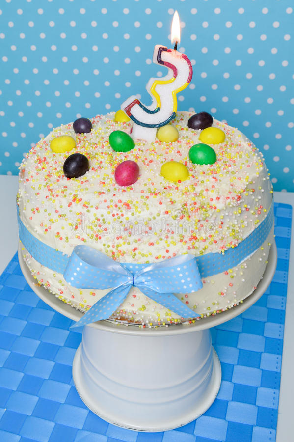 Birthday cake for kids party royalty free stock photography