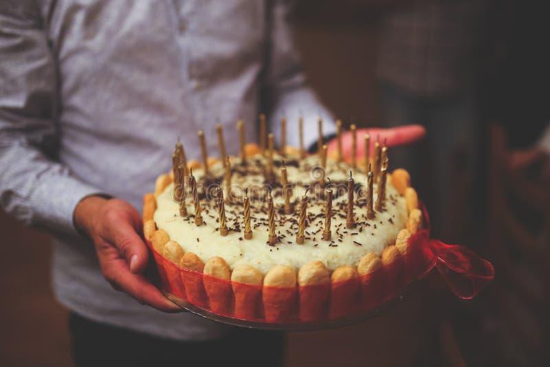 Birthday Cake In Men's Hands Free Public Domain Cc0 Image