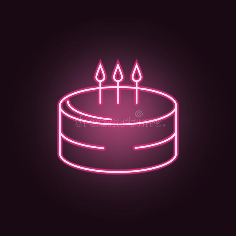 Pleasant Birthday Cake Neon Icon Elements Of Party Set Simple Icon For Personalised Birthday Cards Xaembasilily Jamesorg