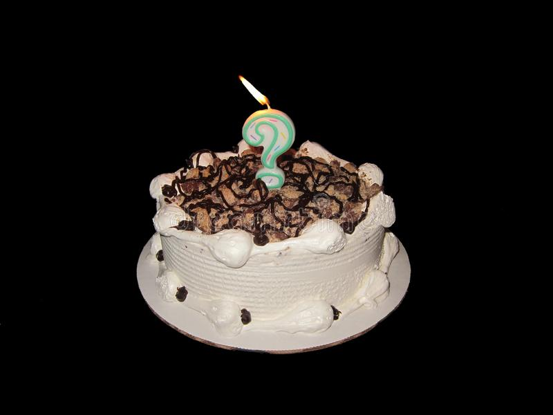 Birthday Cake question mark royalty free stock photography