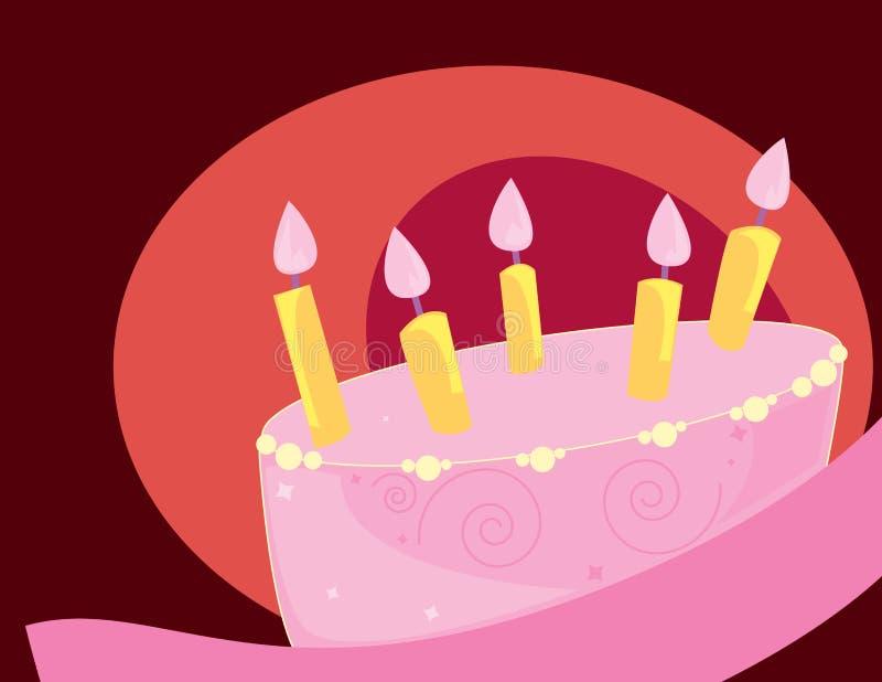 Birthday cake single layer vector illustration
