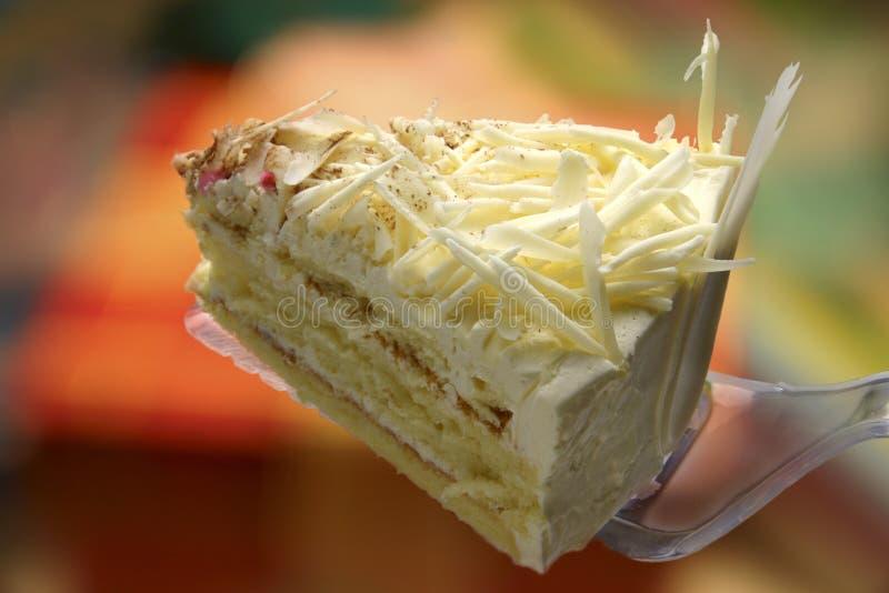 Birthday Cake. A slice of birthday cake royalty free stock image