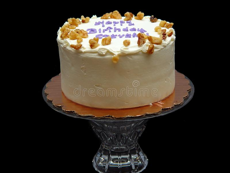 Birthday Cake Steven Three royalty free stock images
