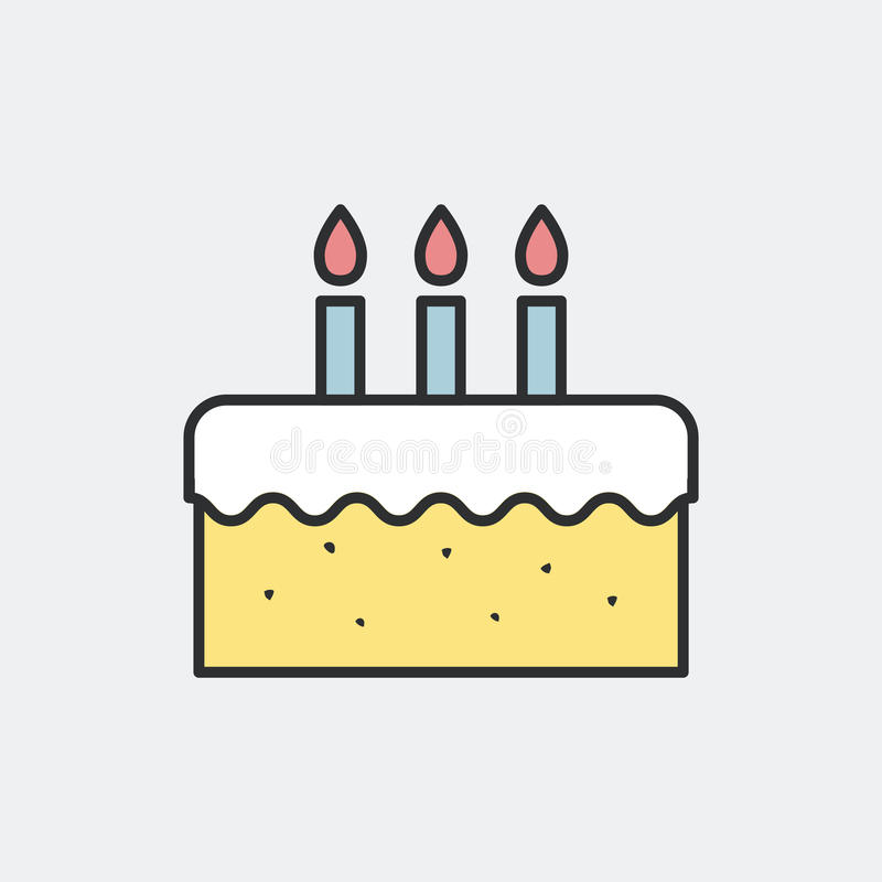 Birthday Cake Minimal Illustration