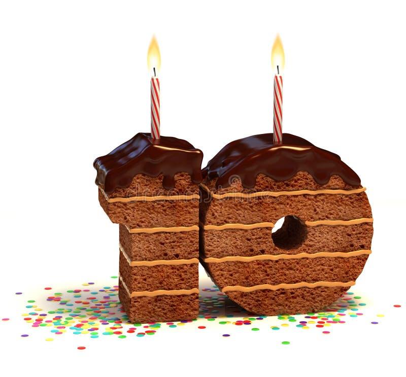 Birthday cake tenth birthday or anniversary stock illustration