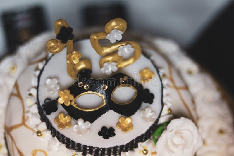 Birthday cake. 15th birthday cake royalty free stock photos