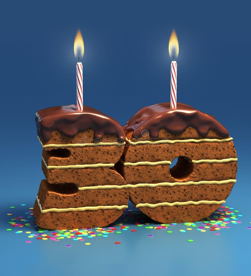 Birthday cake thirtieth birthday or anniversary