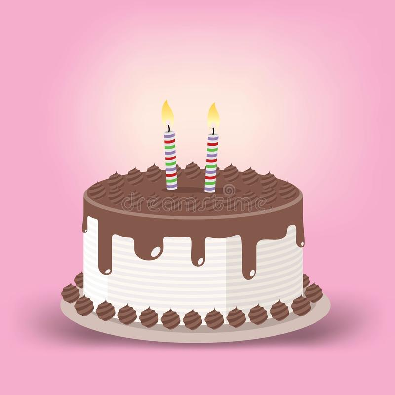 Birthday Cake With Lit Candles Image