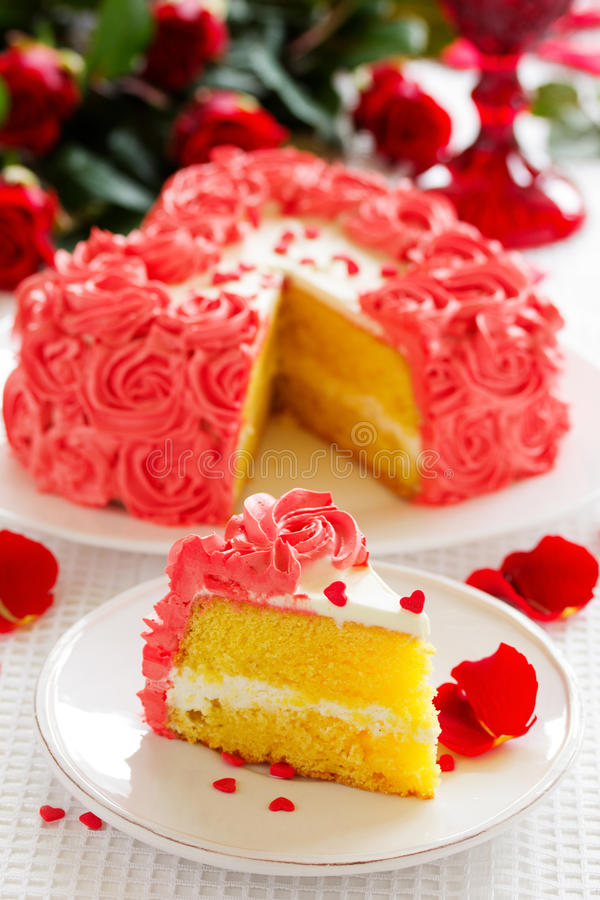 Birthday Cake For Valentines Day Stock Photo Image of sweet