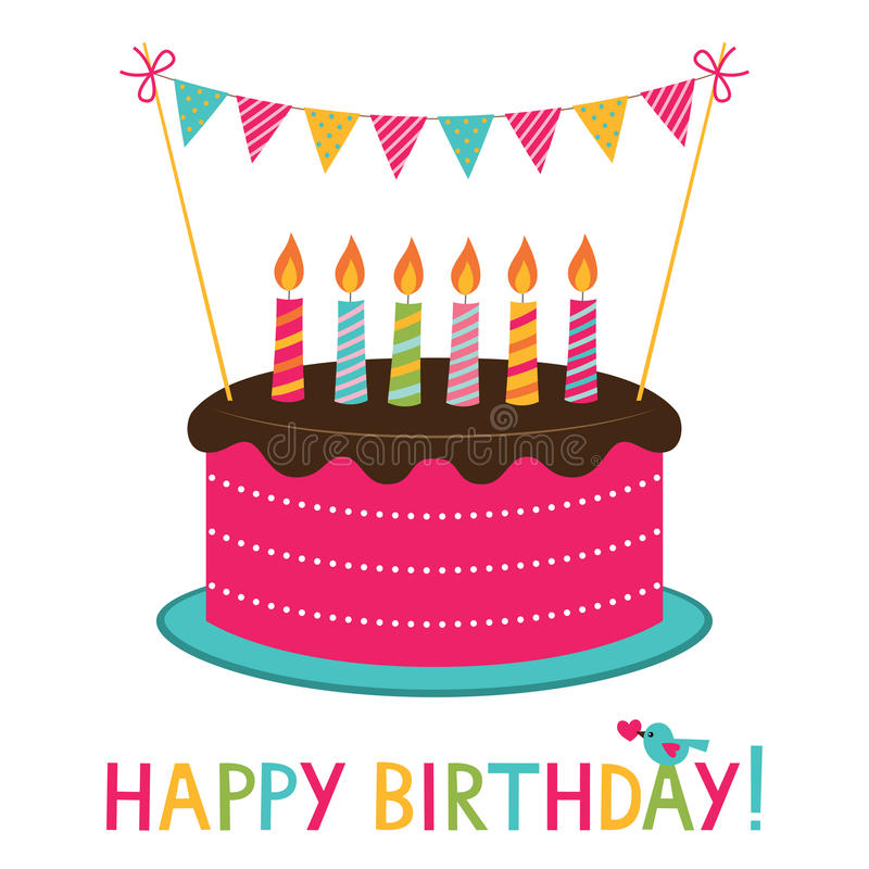 Birthday cake stock vector Illustration of greeting 86642523